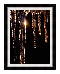 Visions of America Close Up Of Icicles Acadia National Park Maine canvas with modern black frame