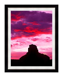 Visions of America Indian Ruins At Sunset Chaco Canyon New Mexico canvas with modern black frame
