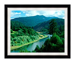 Visions of America Rogue River In Southern Oregon canvas with modern black frame
