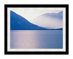 Visions of America Aspen And Rocky Mountains From Lake Colorado canvas with modern black frame
