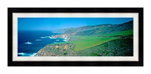 Visions of America Cabrillo Highway On The California Coast canvas with Modern Black frame