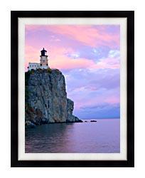 Visions of America Lighthouse Split Rock Minnesota canvas with modern black frame