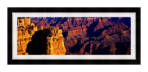 Visions of America Grand Canyon National Park From South Rim canvas with Modern Black frame