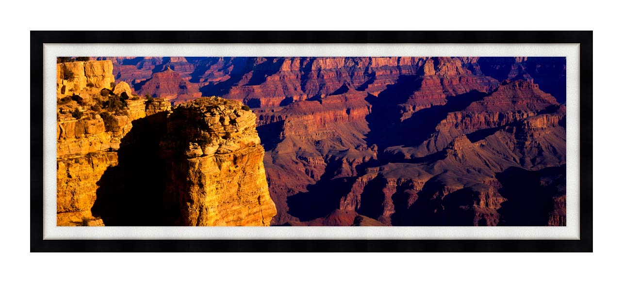 Visions of America Grand Canyon National Park from South Rim with Modern Black Frame