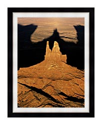 Visions of America The Navajo Tribal Park At Sunset canvas with modern black frame