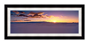 Visions of America Sunrise Over White Sands National Monument canvas with Modern Black frame