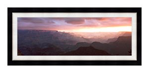 Visions of America South Rim Of The Grand Canyon Grand View Point canvas with Modern Black frame