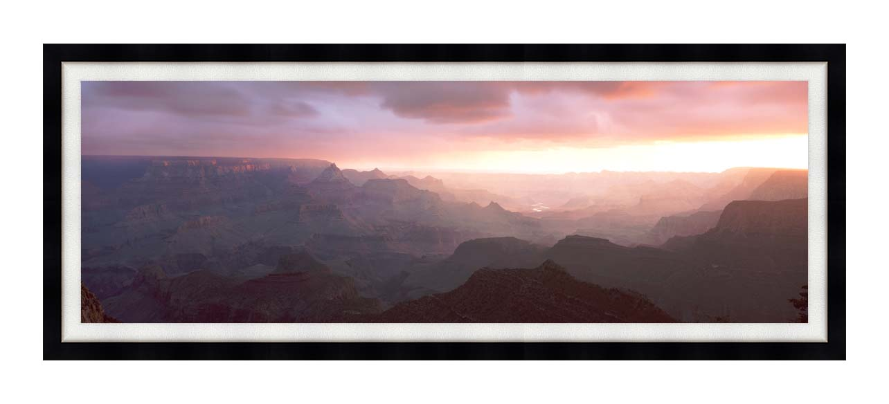 Visions of America South Rim of the Grand Canyon, Grand View Point with Modern Black Frame