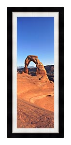 Visions of America Delicate Arch At Sunrise canvas with Modern Black frame