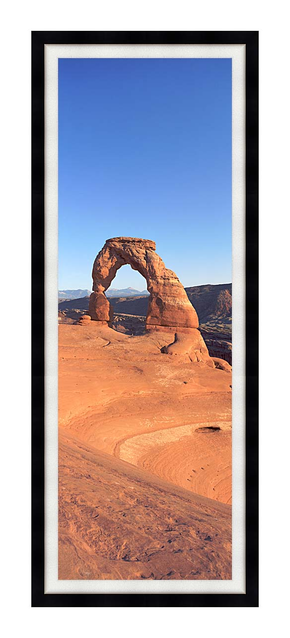 Visions of America Delicate Arch at Sunrise with Modern Black Frame