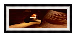 Visions of America Slot Canyon In Antelope Desert Canyon canvas with Modern Black frame