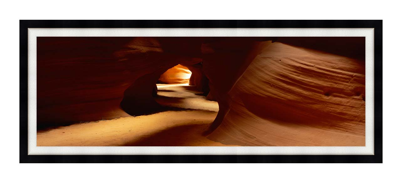 Visions of America Slot Canyon in Antelope Desert Canyon with Modern Black Frame