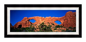 Visions of America The Windows Arches At Dawn canvas with Modern Black frame