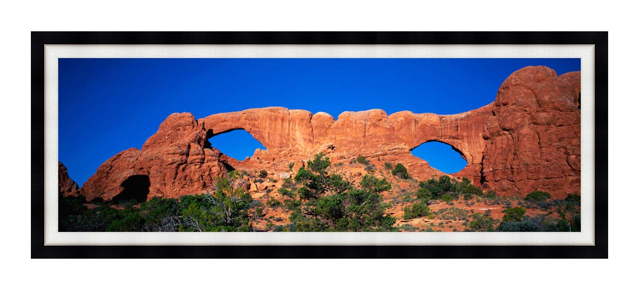 Visions of America The Windows Arches at Dawn with Modern Black Frame