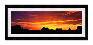 Visions of America Sunrise On Monument Valley canvas with Modern Black frame