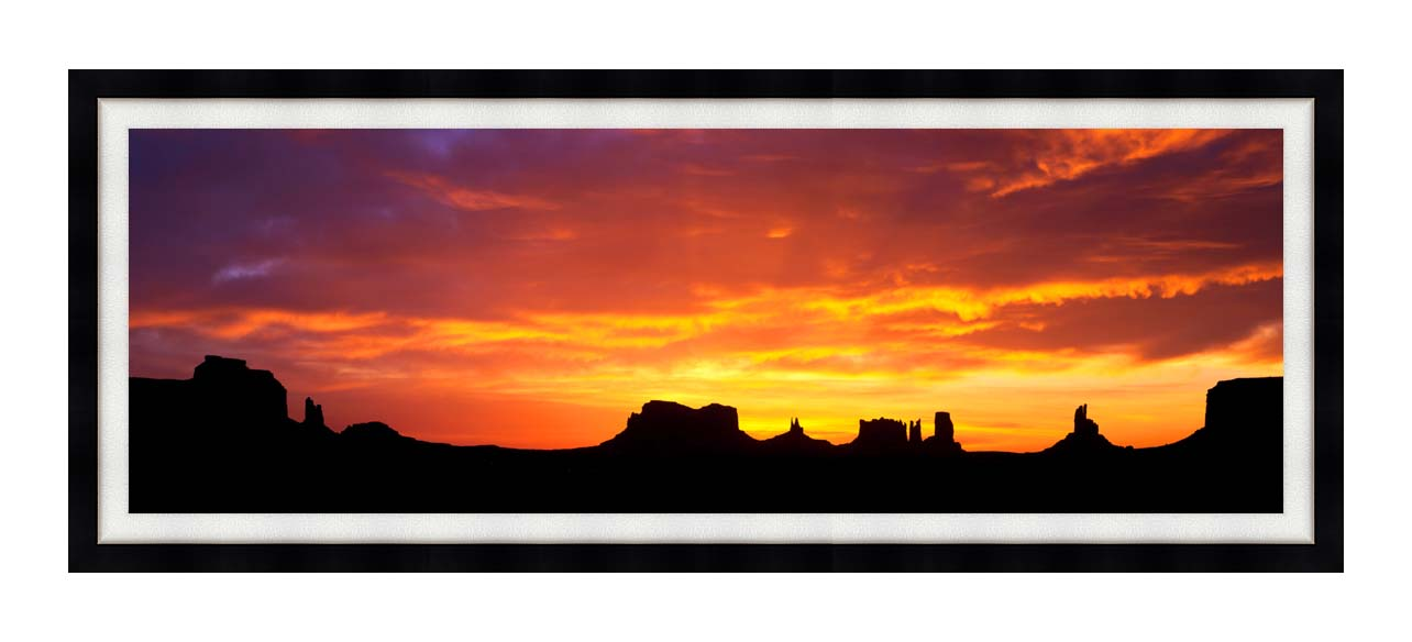 Visions of America Sunrise on Monument Valley with Modern Black Frame