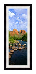 Visions of America Cathedral Rock At Red Rock Crossing canvas with Modern Black frame