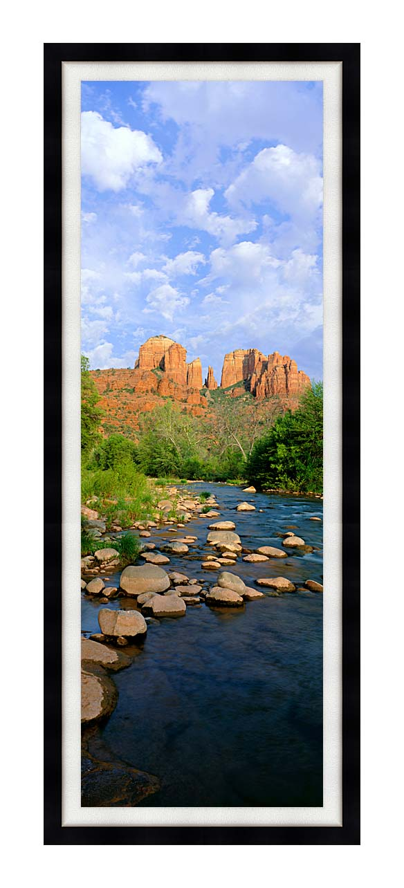 Visions of America Cathedral Rock at Red Rock Crossing with Modern Black Frame
