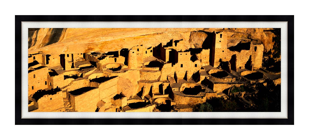 Visions of America Cliff Palace in the Anasazi Indian Ruins with Modern Black Frame
