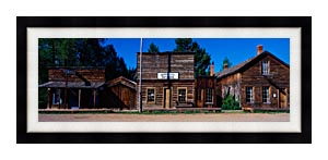 Visions of America A Ghost Town Near Virginia City canvas with Modern Black frame