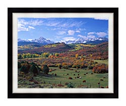 Visions of America Sneffels Mountain Range Colorado canvas with modern black frame