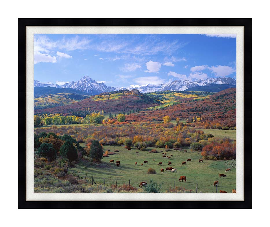 Visions of America Sneffels Mountain Range Colorado with Modern Black Frame