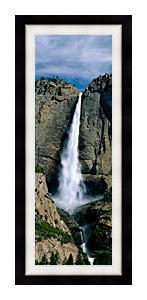 Visions of America Upper Yosemite Falls canvas with Modern Black frame