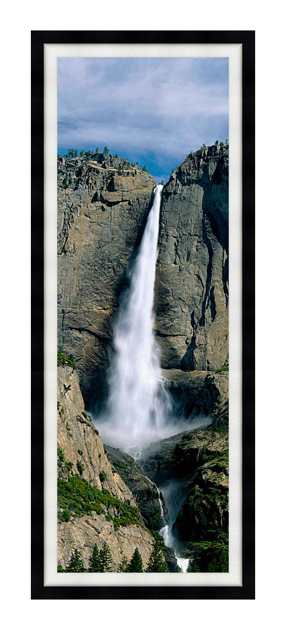 Visions of America Upper Yosemite Falls with Modern Black Frame