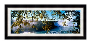 Visions of America Horseshoe Falls View From Canada canvas with Modern Black frame