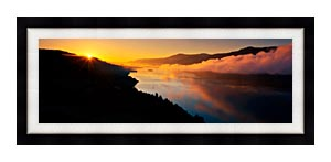 Visions of America Cape Horn On The Columbia River Gorge canvas with Modern Black frame