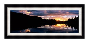 Visions of America Mount Rainier National Park canvas with Modern Black frame
