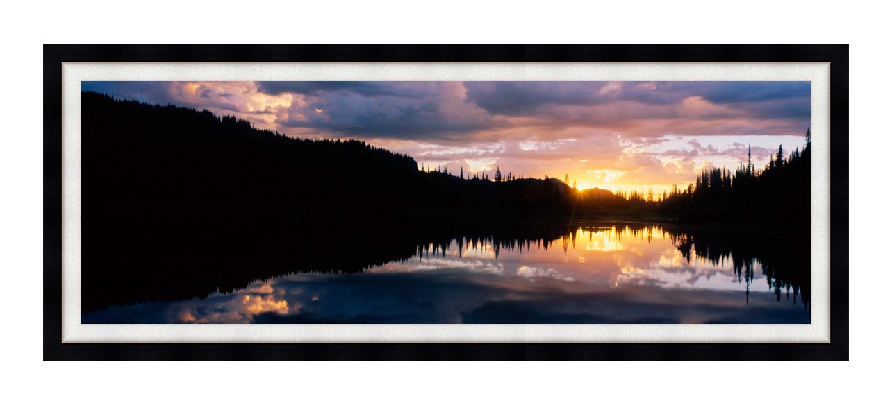 Visions of America Mount Rainier National Park with Modern Black Frame