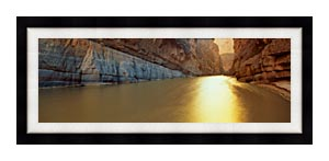 Visions of America Rio Grande River On The Mexico   U S Border canvas with Modern Black frame