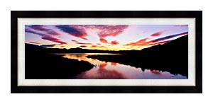 Visions of America Lake Casitas California At Sunrise canvas with Modern Black frame