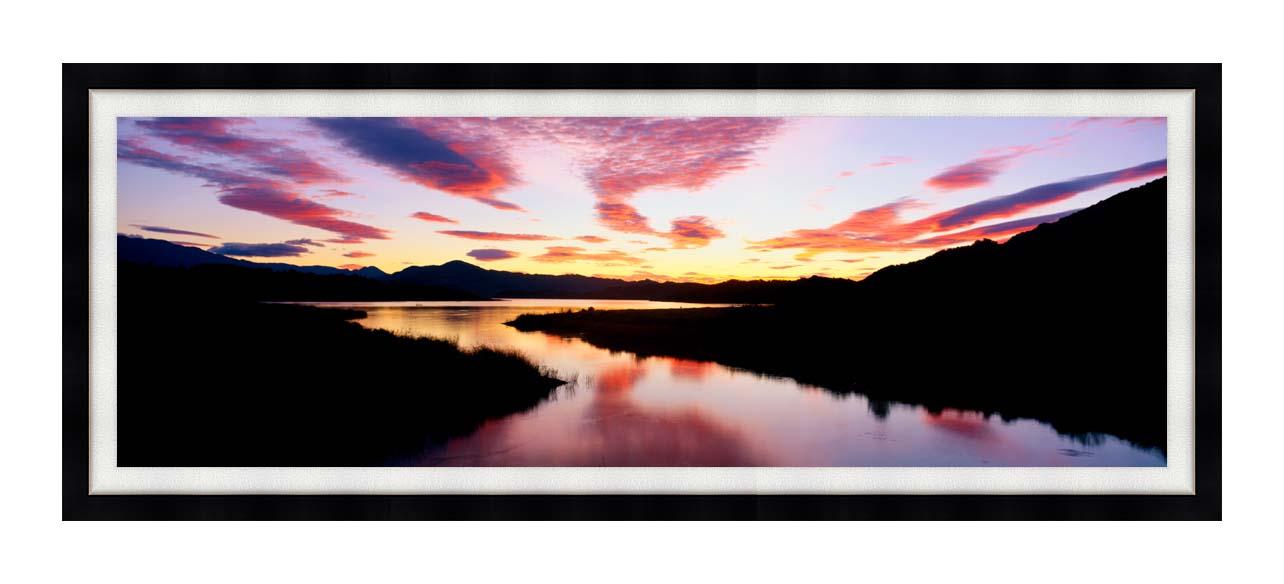 Visions of America Lake Casitas California at Sunrise with Modern Black Frame