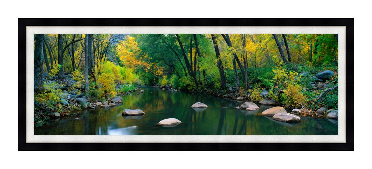 Visions of America Cottonwood Canyon in the Autumn with Modern Black Frame