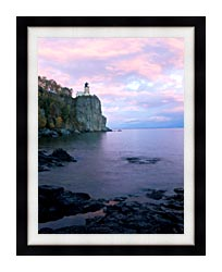 Visions of America Split Rock Lighthouse On Lake Superior canvas with modern black frame