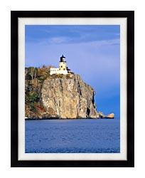 Visions of America Split Rock Lighthouse Minnesota canvas with modern black frame