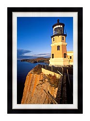 Visions of America Split Rock Lighthouse State Park Minnesota canvas with modern black frame