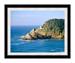 Visions of America Heceta Lighthouse Oregon canvas with modern black frame
