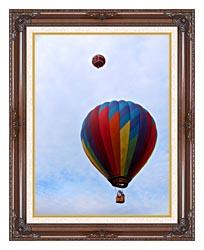 Brandie Newmon Hot Air Balloons canvas with dark regal wood frame