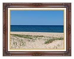 Brandie Newmon Race Point Beach Provincetown Massachusetts canvas with dark regal wood frame