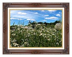 Brandie Newmon Field Of Wildflowers Easthampton Massachusetts canvas with dark regal wood frame