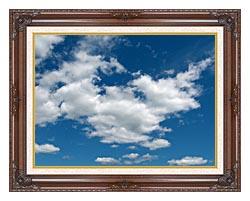 Brandie Newmon Cloudy Summer Day canvas with dark regal wood frame