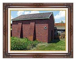 Brandie Newmon Artillery Magazine In Portsmouth New Hampshire canvas with dark regal wood frame