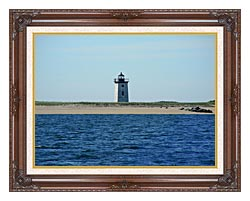 Brandie Newmon Wood End Lighthouse Provincetown Massachusetts canvas with dark regal wood frame