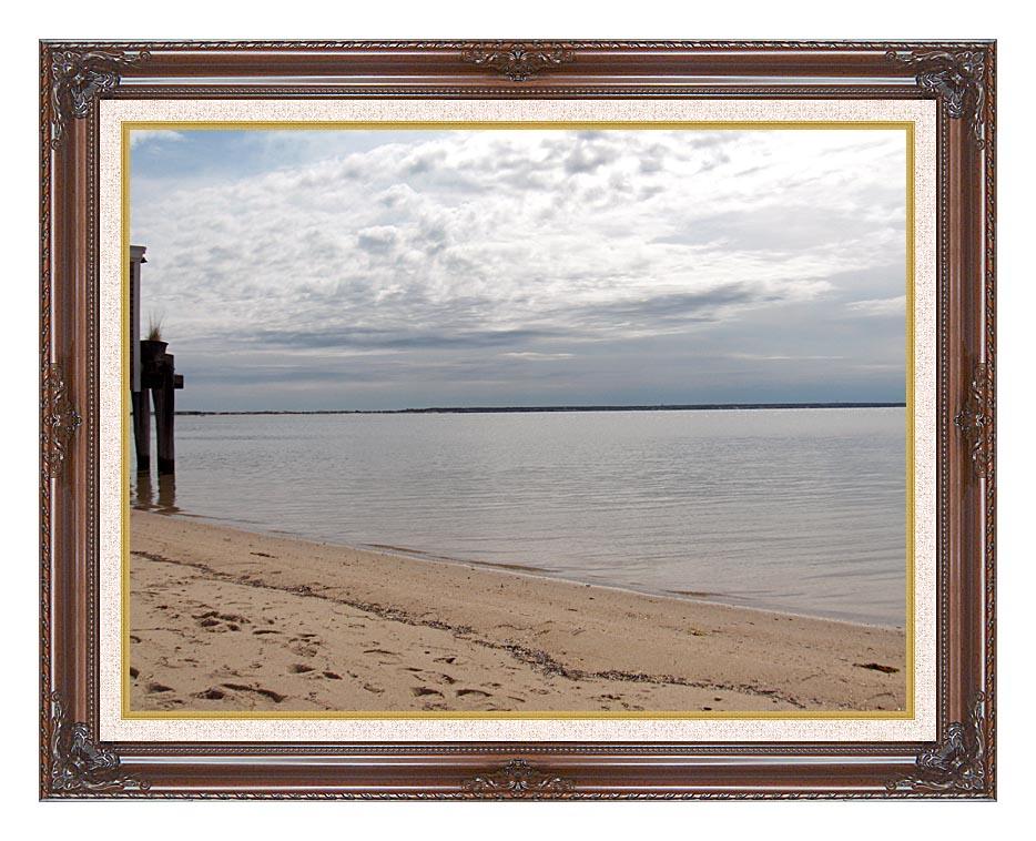 Brandie Newmon Sandy Beach in Provincetown, MA with Dark Regal Frame w/Liner