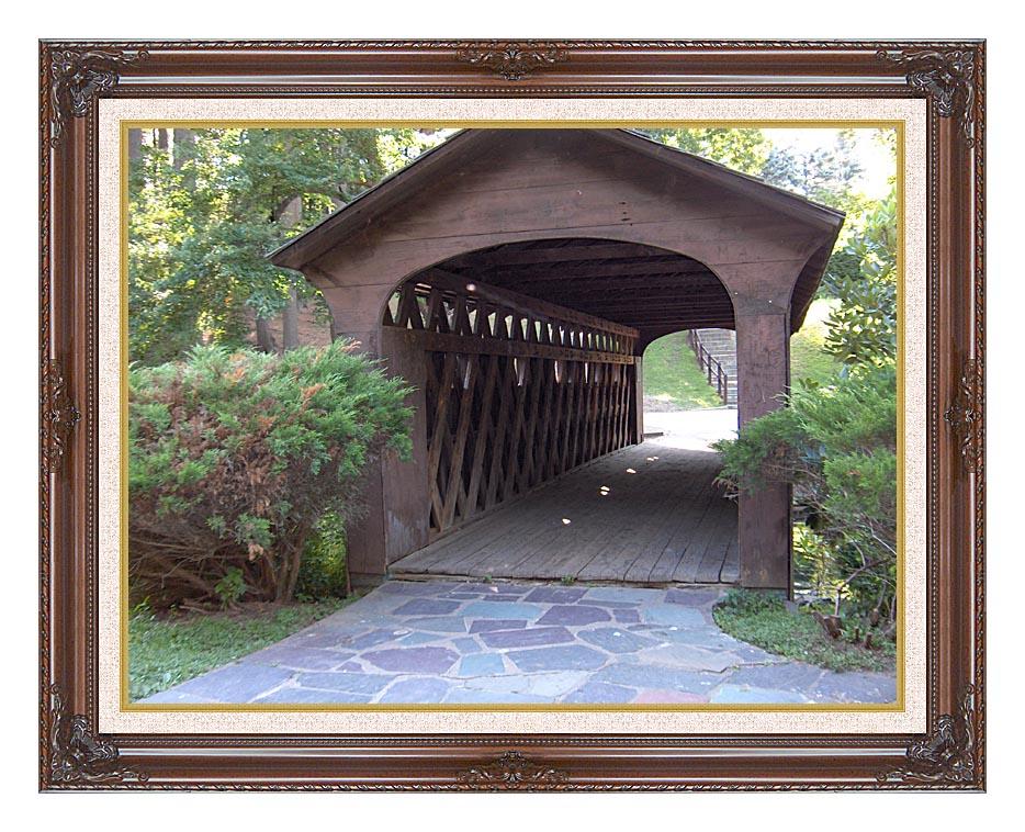 Brandie Newmon Covered Wooden Bridge with Dark Regal Frame w/Liner
