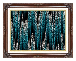 Lora Ashley Cascading Pearls canvas with dark regal wood frame