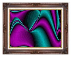 Lora Ashley Blocked Curves canvas with dark regal wood frame